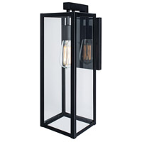 Norwell 1185-BL-CL Capture 1 Light 11 inch Black Outdoor Wall
