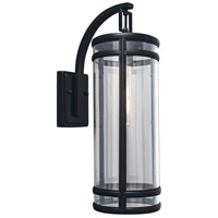New Yorker 1 Light 21 inch Acid Dipped Black Outdoor Wall Light
