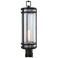 New Yorker 1 Light 24 inch Acid Dipped Black Outdoor Post Light