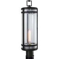 Norwell 1192-ADB-CL New Yorker 1 Light 24 inch Acid Dipped Black Outdoor Post Light