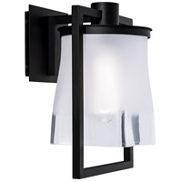 Norwell 1195-MB-FR Drape 1 Light 13 inch Matte Black Outdoor Wall Light