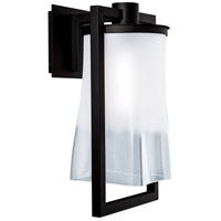 Norwell 1196-MB-FR Drape 1 Light 17 inch Matte Black Outdoor Wall Light