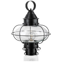 Cottage Onion 1 Light 15 inch Black Outdoor Post Lantern, Medium