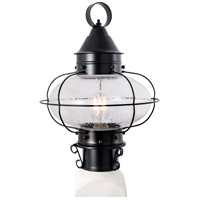 Norwell 1321-BL-SE Cottage Onion 1 Light 15 inch Black Outdoor Post Medium