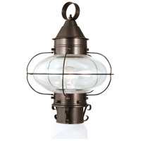 Cottage Onion 1 Light 15 inch Bronze Outdoor Post Lantern, Medium