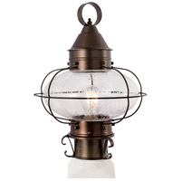 Norwell 1321-BR-SE Cottage Onion 1 Light 15 inch Bronze Outdoor Post Medium