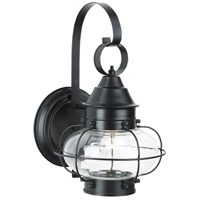 Cottage Onion 1 Light 14 inch Black Outdoor Wall Lantern, Small