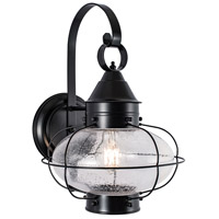 Norwell 1324-BL-SE Cottage Onion 1 Light 16 inch Black Outdoor Wall Large