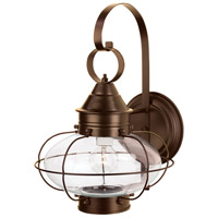 Cottage Onion 1 Light 16 inch Bronze Outdoor Wall Lantern, Large