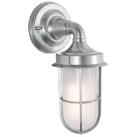 Norwell 1425-BC-SO Compton 1 Light 12 inch Brushed Chrome Outdoor Wall