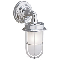 Compton 1 Light 12 inch Chrome Outdoor Wall Lantern
