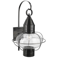 Classic Onion 1 Light 24 inch Black Outdoor Wall Lantern in Clear, Large