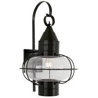 Norwell 1509-BL-SE Classic Onion 1 Light 24 inch Black Outdoor Wall in Seedy, Large