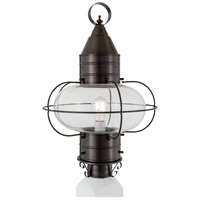 Classic Onion 1 Light 22 inch Bronze Outdoor Post Lantern in Clear, Large
