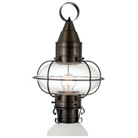 Classic Onion 1 Light 18 inch Bronze Outdoor Post Lantern in Clear, Medium