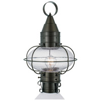 Norwell 1511-GM-SE Classic Onion 1 Light 18 inch Gun Metal Outdoor Post in Seedy Medium