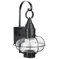 Classic Onion 1 Light 19 inch Black Outdoor Wall Lantern in Clear, Medium
