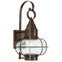 Classic Onion 1 Light 19 inch Bronze Outdoor Wall Lantern in Clear, Medium
