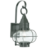 Norwell 1512-GM-CL Classic Onion 1 Light 19 inch Gun Metal Outdoor Wall in Clear Medium