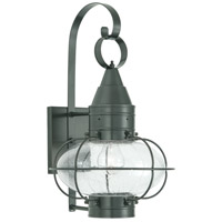 Norwell 1512-GM-SE Classic Onion 1 Light 19 inch Gun Metal Outdoor Wall in Seedy Medium