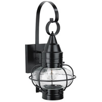 Classic Onion 1 Light 16 inch Black Outdoor Wall Lantern in Clear, Small