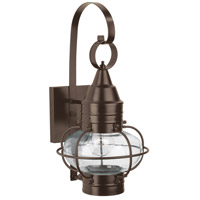 Norwell 1513-BR-CL Classic Onion 1 Light 16 inch Bronze Outdoor Wall in Clear Small
