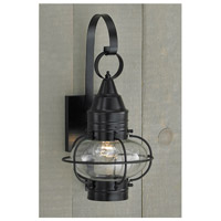 Norwell 1609-BL-CL Vidalia Onion 1 Light 25 inch Black Outdoor Wall in Clear Large