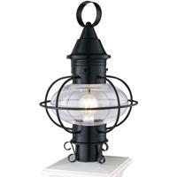 Norwell 1611-BL-CL Vidalia Onion 1 Light 19 inch Black Outdoor Post in Clear, Medium