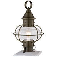 Norwell 1611-SI-CL Vidalia Onion 1 Light 19 inch Sienna Outdoor Post in Clear, Medium