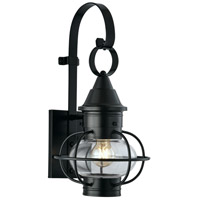 Norwell 1613-BL-CL Vidalia Onion 1 Light 18 inch Black Outdoor Wall in Clear, Small