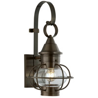 Norwell 1613-SI-CL Vidalia Onion 1 Light 18 inch Sienna Outdoor Wall in Clear, Small