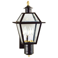 Lexington 3 Light 18 inch Black Outdoor Wall Lantern