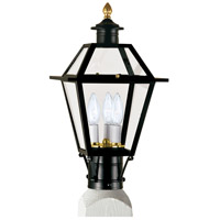 Lexington 3 Light 17 inch Black Outdoor Post Lantern, Medium