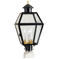 Lexington 3 Light 25 inch Black Outdoor Post Lantern, Large