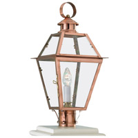 Olde Colony 1 Light 22 inch Copper Outdoor Post Lantern