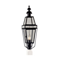 Norwell 2280C-BL-CL/SE Beacon 1 Light 38 inch Black Outdoor Post, Large