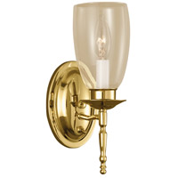 Norwell 3306-PB-CL Legacy 1 Light 4 inch Polished Brass Sconce Wall Light