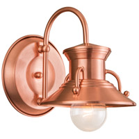 Budapest 1 Light 12 inch Copper Wall Sconce Wall Light, Small