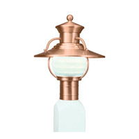 Budapest 1 Light 14 inch Copper Outdoor Post