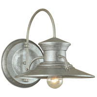 Norwell 5155-GA-NG Budapest 1 Light 13 inch Galvanized Outdoor Wall Large