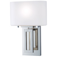 Hamilton 1 Light 8 inch Polished Nickel Wall Sconce Wall Light