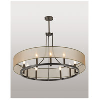 Ghost 9 Light 36 inch Architectural Bronze Pendant Chandelier Ceiling Light