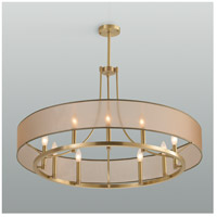 Ghost 9 Light 36 inch Satin Brass Pendant Chandelier Ceiling Light