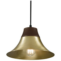 Kamiko 1 Light 10 inch Satin Brass Pendant Ceiling Light