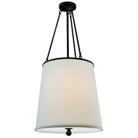 Ashton 3 Light 18 inch Matte Black Drum Pendant Ceiling Light, Drum