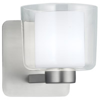 Norwell 5331-BN-CL Alexus 1 Light 5 inch Brushed Nickel Wall Sconce Wall Light