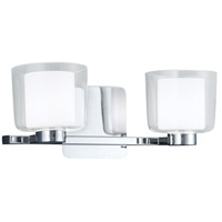 Alexus 2 Light 15 inch Chrome Wall Sconce Wall Light