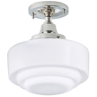 Norwell 5361F-PN-ST Schoolhouse 1 Light 10 inch Polished Nickel Indoor Flushmount Ceiling Light in Stepped