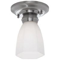 Norwell 5371-BN-HXO Mecer 1 Light 5 inch Brushed Nickel Flush Mount Ceiling Light in Hexagonal Opal