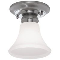 Norwell 5371-PN-FL Mecer 1 Light 5 inch Polished Nickel Indoor Flushmount Ceiling Light in Flare